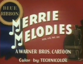 Screenshots from the 1945 Warner Brothers cartoon Ain