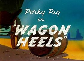 Screenshots from the 1945 Warner Brothers cartoon Wagon Heels