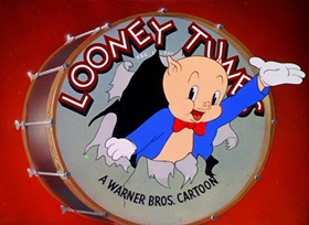 Screenshots from the 1945 Warner Brothers cartoon Hare Conditioned