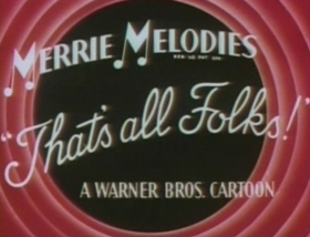 Screenshots from the 1945 Warner Brothers cartoon Peck Up Your Troubles