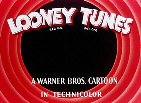 Screenshots from the 1945 Warner Brothers cartoon Hare Tonic