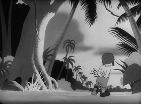 Screenshots from the 1945 Warner Brothers cartoon It