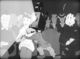 Screenshots from the 1945 Warner Brothers cartoon Going Home