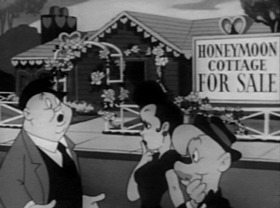 Screenshots from the 1945 Warner Bros. cartoon The Return of Mr. Hook