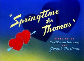 Screenshots from the 1946 MGM cartoon Springtime for Thomas