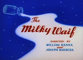 Screenshots from the 1946 MGM cartoon The Milky Waif