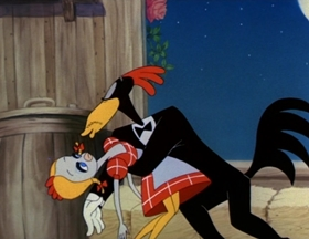 Screenshots from the 1946 MGM cartoon The Hick Chick