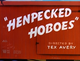Screenshots from the 1946 MGM cartoon Henpecked Hoboes