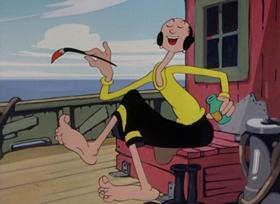 Screenshots from the 1946 Paramount / Famous Studios cartoon Peep in the Deep