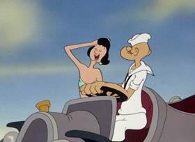 Screenshots from the 1946 Paramount / Famous Studios cartoon The Island Fling