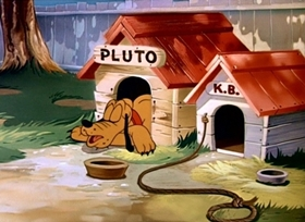 Screenshots from the 1946 Disney cartoon Pluto