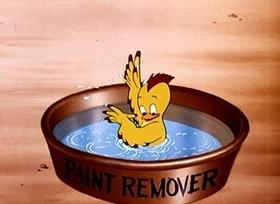 Screenshots from the 1946 Disney cartoon Wet Paint