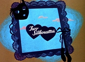 Screenshots from the 1946 Disney cartoon Two Sillouhettes