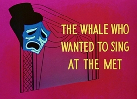Screenshots from the 1946 Disney cartoon The Whale Who Wanted to Sing at the Met