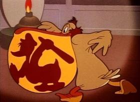 Screenshots from the 1946 Disney cartoon Lighthouse Keeping