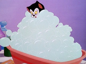 Screenshots from the 1946 Disney cartoon Bath Day