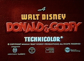 Screenshots from the 1946 Disney cartoon Frank Duck Brings