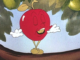 Screenshots from the 1946 Walter Lantz cartoon Apple Andy