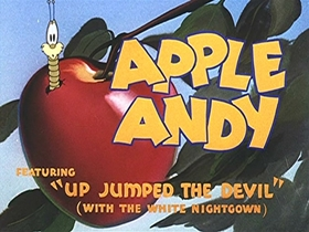 Screenshots from the 1946 Walter Lantz cartoon Apple Andy