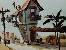 Screenshots from the 1946 Walter Lantz cartoon Bathing Buddies