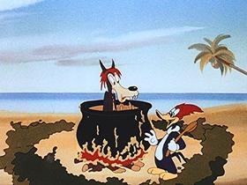 Screenshots from the 1946 Walter Lantz cartoon Fair Weather Fiends