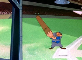 Screenshots from the 1946 Warner Brothers cartoon Baseball Bugs