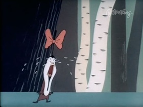 Screenshots from the 1946 Warner Brothers cartoon Quentin Quail
