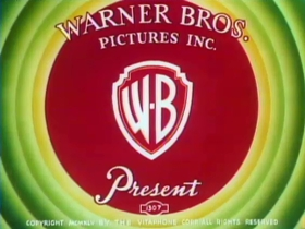 Screenshots from the 1946 Warner Brothers cartoon Daffy Doodles