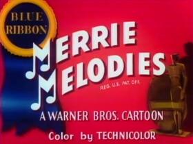 Screenshots from the 1946 Warner Bros. cartoon Daffy Doodles