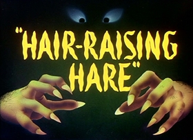 Screenshots from the 1946 Warner Brothers cartoon Hair-Raising Hare