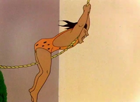 Screenshots from the 1946 Warner Brothers cartoon Hollywood Daffy