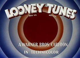 Screenshots from the 1946 Warner Brothers cartoon Acrobatty Bunny