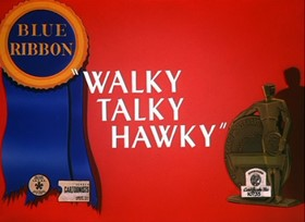 Screenshots from the 1946 Warner Brothers cartoon Walky Talky Hawky