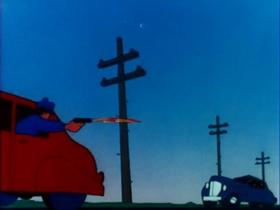 Screenshots from the 1946 Warner Brothers cartoon Racketeer Rabbit