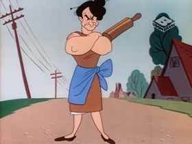Screenshots from the 1946 Warner Brothers cartoon Fair and Worm-er