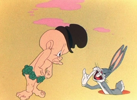 Screenshots from the 1946 Warner Brothers cartoon The Big Snooze