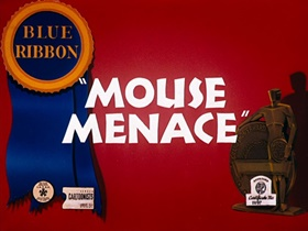 Screenshots from the 1946 Warner Brothers cartoon Mouse Menace