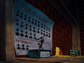 Screenshots from the 1946 Warner Bros. cartoon Mouse Menace