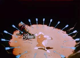 Screenshots from the 1947 Bob Clampett Productions cartoon It