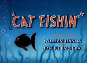 Screenshots from the 1947 MGM cartoon Cat Fishin