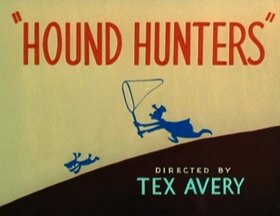 Screenshots from the 1947 MGM cartoon Hound Hunters