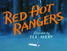 Screenshots from the 1947 MGM cartoon Red Hot Rangers
