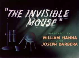 Screenshots from the 1947 MGM cartoon The Invisible Mouse