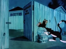 Screenshots from the 1947 MGM cartoon King-Size Canary
