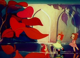 Screenshots from the 1947 Paramount / Famous Studios cartoon The Enchanted Square