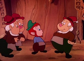 Screenshots from the 1947 Paramount / Famous Studios cartoon The Wee Men