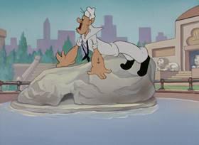 Screenshots from the 1947 Paramount / Famous Studios cartoon The Royal Four-Flusher