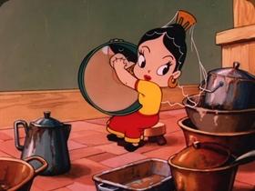 Screenshots from the 1947 Paramount / Famous Studios cartoon Santa
