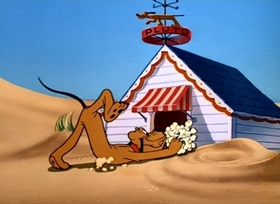 Screenshots from the 1947 Disney cartoon Pluto