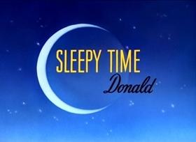 Screenshots from the 1947 Disney cartoon Sleepy Time Donald